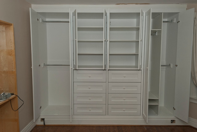 Nice Built In Bedroom Closet Ideas High Park Two Built In Closets Contemporary Bedroom Toronto