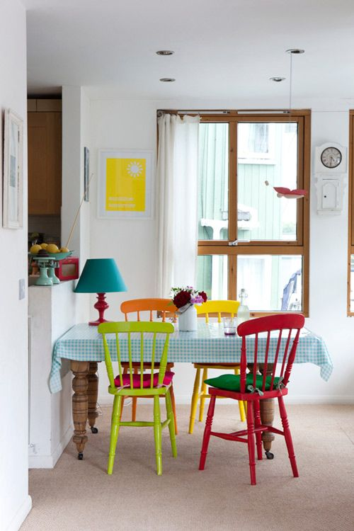Nice Colored Chairs For Kitchen Best 25 Coloured Dining Chairs Ideas On Pinterest Bright Dining