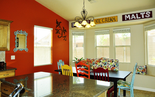 Nice Colored Chairs For Kitchen Colorful Kitchen Eclectic Kitchen Salt Lake City Brooke