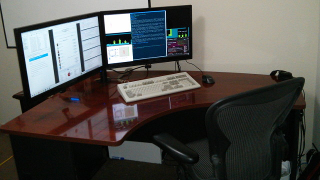 Nice Corner Desk For Multiple Monitors Monitor Stand For Qnix Qx2710 And Other 27 Inch Monitors