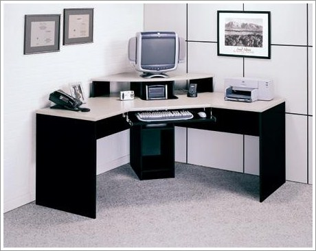 Nice Corner Office Desk Contemporary Elements Corner Desk Finished In Black And Alumic