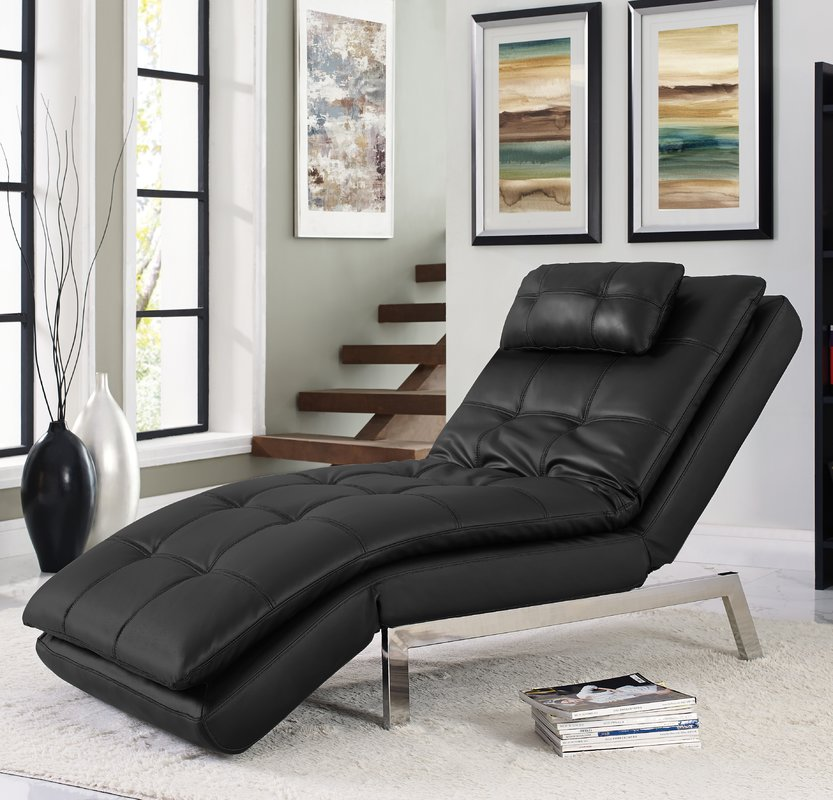 Nice Cream Leather Chaise Lounge Serta Futons Vienna Convertible Chaise Lounge Reviews Wayfair