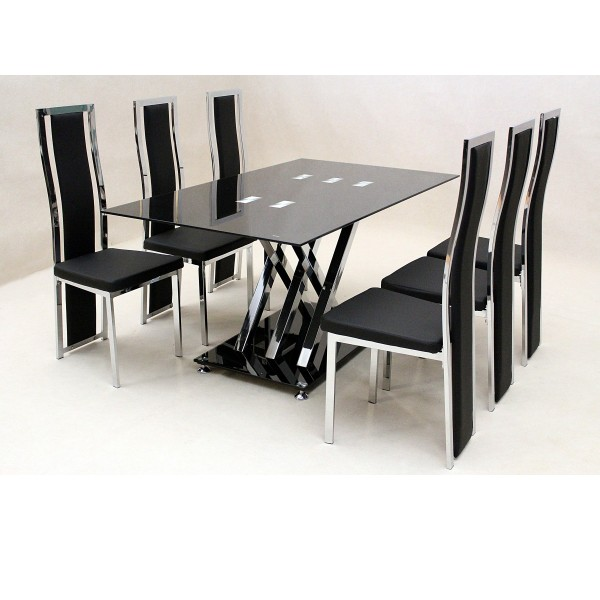 Nice Dining Table And Chair Set Stunning Black Table And Chairs Set Interesting Design Ideas