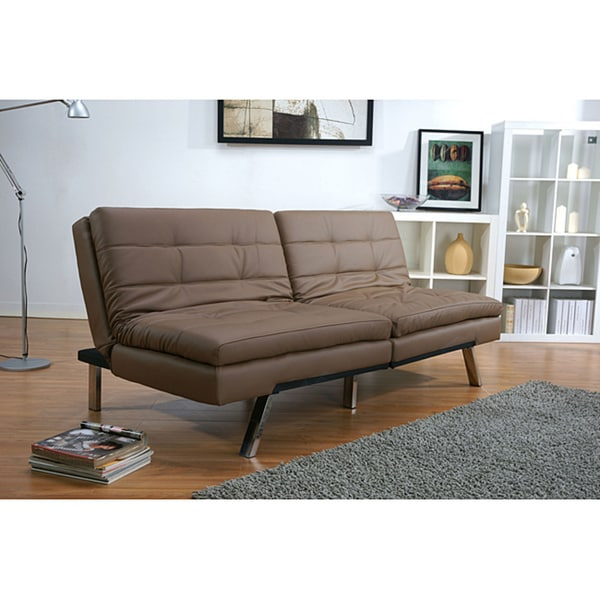 Nice Double Futon Sofa Bed Memphis Taupe Double Cushion Futon Sofa Bed Free Shipping Today