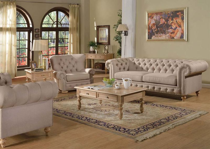 Nice Formal Living Room Chairs Von Furniture Shantoria Formal Living Room Set In Beige