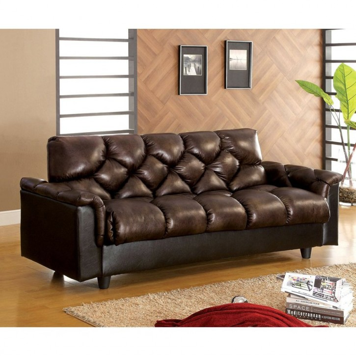 Nice Full Size Leather Futon Furniture Relax At Home And Enjoy The Great Comfort With Amazon