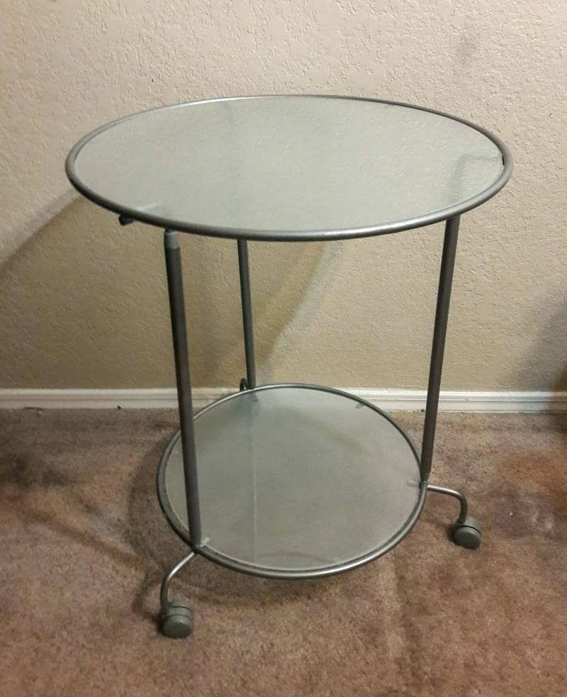 Nice Glass Bedside Table Ikea Side Table Ikea Heimdal Rolling Glass And Metal Side Table