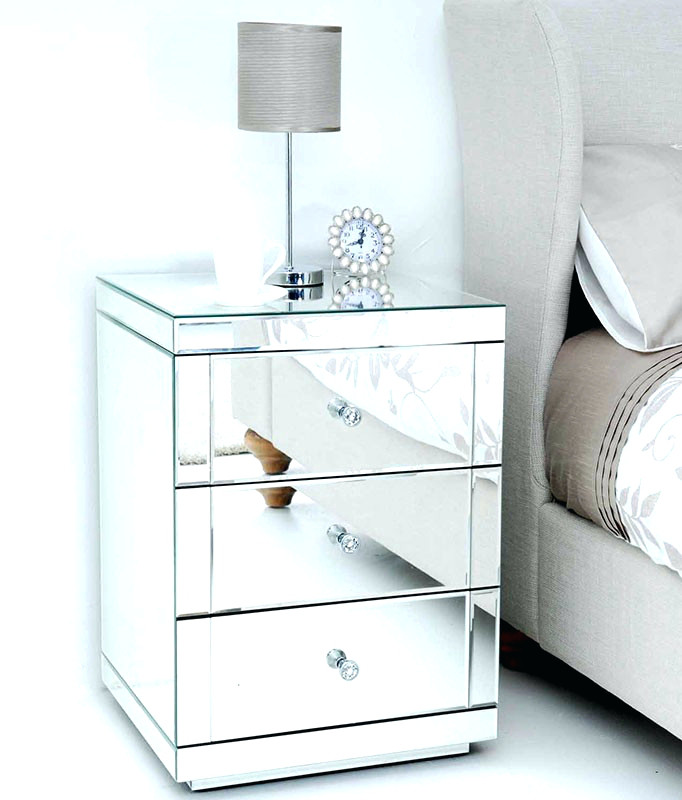 Nice Glass Bedside Table Ikea Side Table Image Of Mirror Bedside Tables Glass Bedside Table