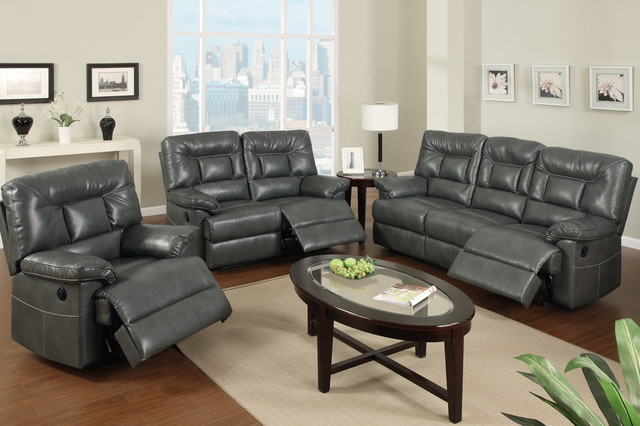 Nice Gray Leather Sofa And Loveseat Modern Gray Leather Reclining Sofa Loveseat Power Motion Couch