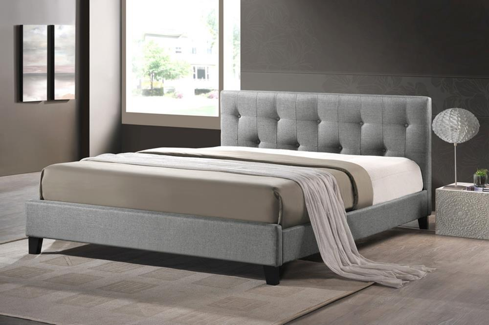 Nice Grey Full Size Bed Endearing Grey Upholstered Headboard Grey Upholstered Headboard