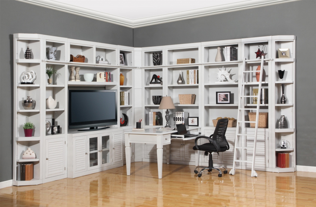 Nice Home Office Desk And Bookcase Parker House Boca Six Piece Entertainment Center Bookcase For Desk