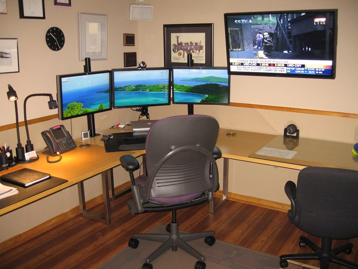 Nice Home Office Desktop Computer Cool Desk Setups Comfortable Basement Office Computer Setup With