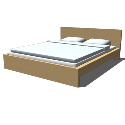 Nice Ikea Queen Size Bed And Mattress Ikea Malm Bed 3d Model Formfonts 3d Models Textures
