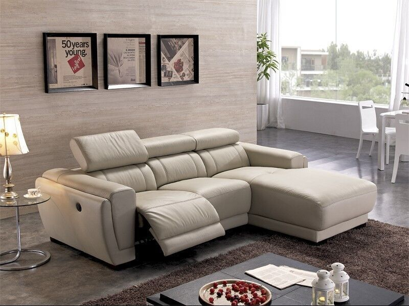 Nice L Shaped Recliner Sofa Chaise Lounge French Style Genuine Leather Recliner L Shape Sofa