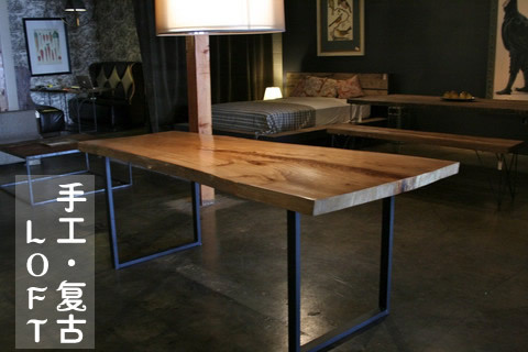 Nice Large Simple Desk Old Pine Table With Large Complex Industrial Loft American Country