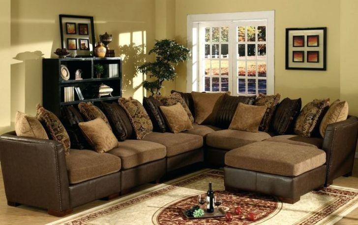 Nice Leather And Cloth Sectional Sectional Leather And Cloth Sectional Leather And Cloth