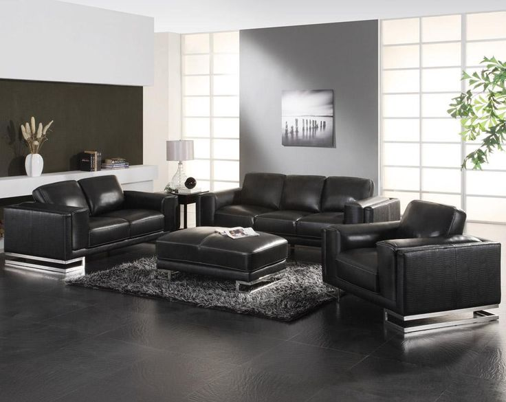 Nice Leather Living Room Sectionals Living Room Design With Black Leather Sofa Onyoustore