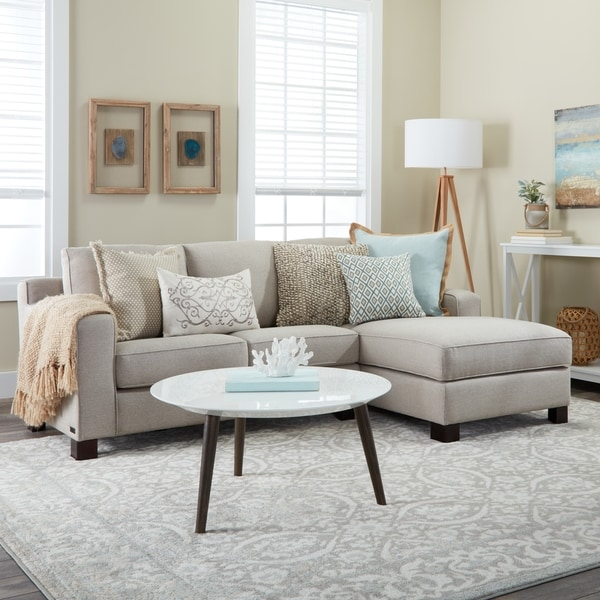 Nice Light Grey Sectional Couch Sectional Sofa With Chaise In Light Grey Free Shipping Today