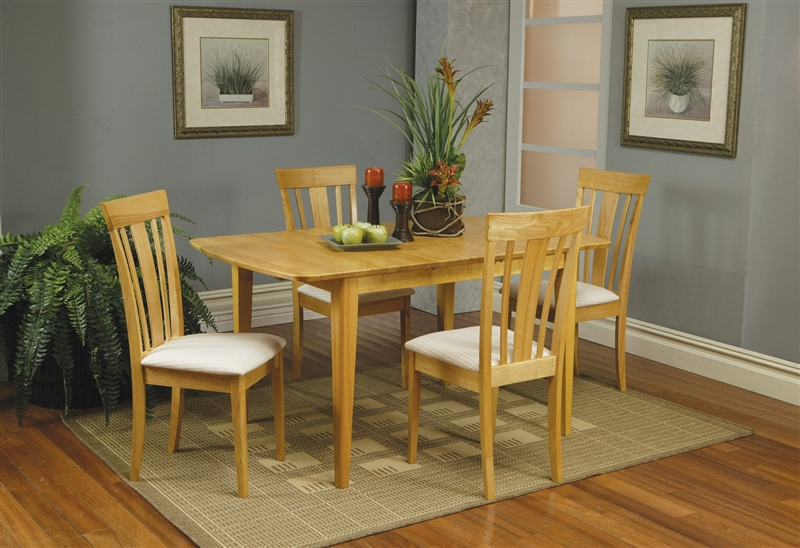 Nice Maple Dining Chairs 5 Piece Butterfly Leaf Dining Set In Maple Finish Coaster 4267