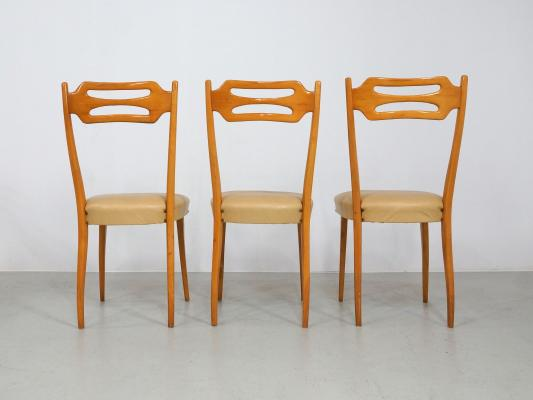 Nice Maple Dining Chairs Italian Dining Chairs In Polished Maple Wood Set Of 6 For Sale At