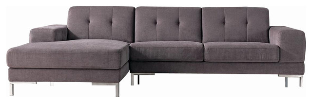 Nice Microfiber U Shaped Sectional Forli Microfiber Fabric L Shaped Sectional Sofa Gray Modern