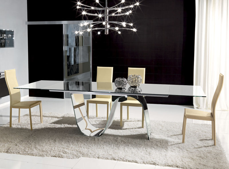 Nice Modern Glass Dining Table Set Modern Glass Dining Table Room And Chairs Modern Glass Dining