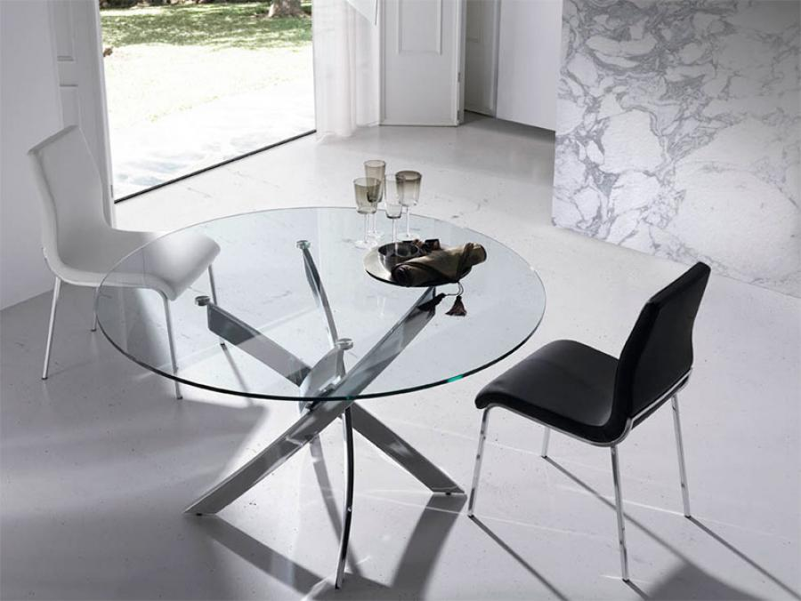 Nice Modern Glass Round Dining Table Appealing Modern Round Glass Dining Table Modern Round Glass