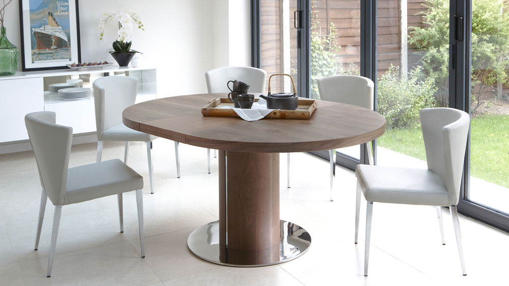 Nice Modern Round Extendable Dining Table Dining Tables Cozy Extendable Round Dining Table Designs Modern