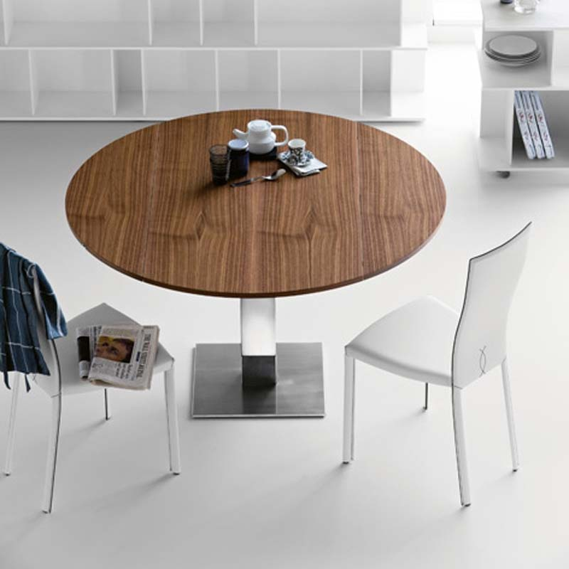 Nice Modern Round Kitchen Table Dreamfurniture Modern Round White Dining Table With The
