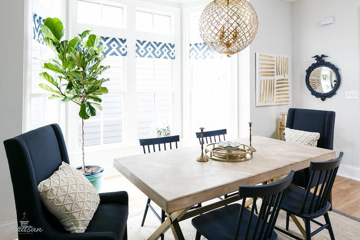 Nice Navy And White Dining Chairs X Based Dining Table With Navy Blue Dining Chairs Transitional