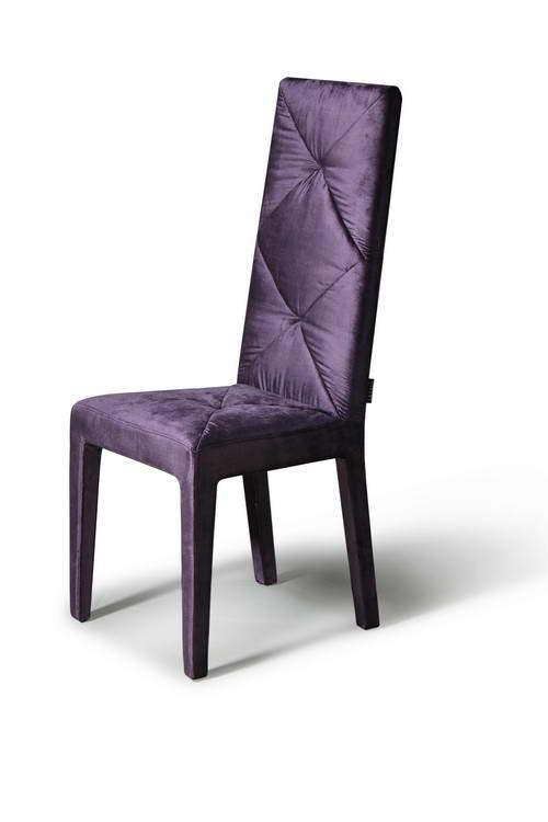 Nice Purple Dining Chairs Soft Silky Feel Purple Dining Chair With High Comfortable Back