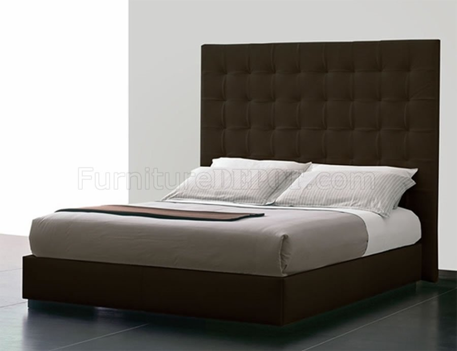 Nice Queen Size Bed Headboard Brown Tufted Leatherette Ludlow Queen Bed Woversized Headboard
