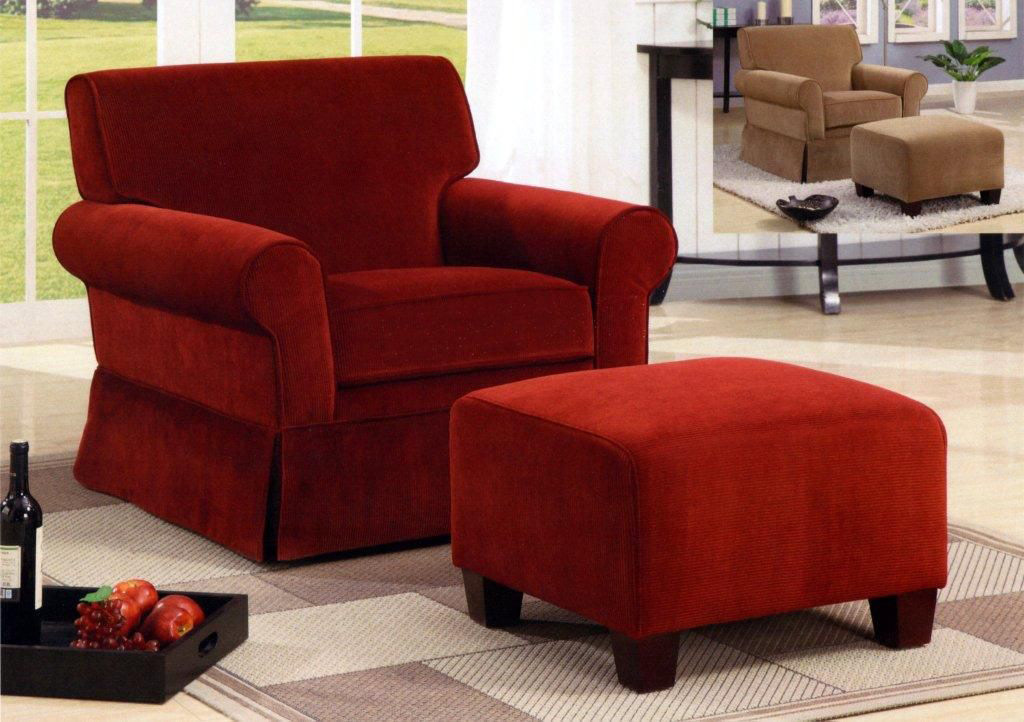 Nice Red Accent Chair With Ottoman Living Room Living Room Chairs And Ottomans Perfect On Living Room