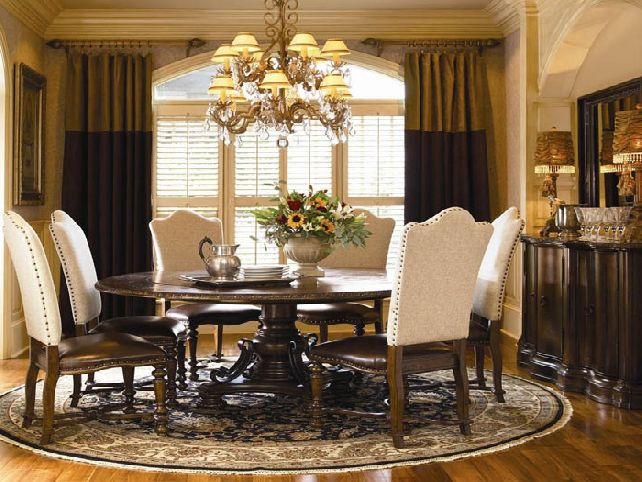 Nice Round Dining Table For 6 With Leaf Dining Room Astounding Round Dining Room Table For 6 Round Dining