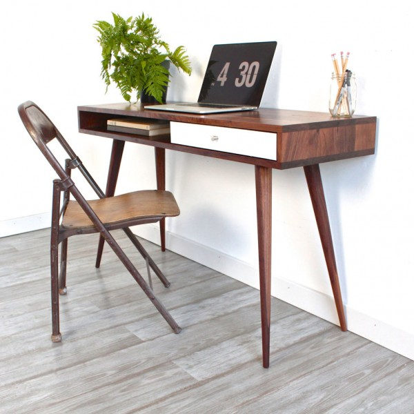 Nice Simple Modern Desk Remodelaholic Diy Mid Century Modern Desk