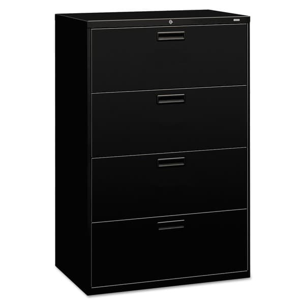 Nice Small Lateral File Cabinet Hon 500 Series Black 4 Drawer Lateral File Free Shipping Today