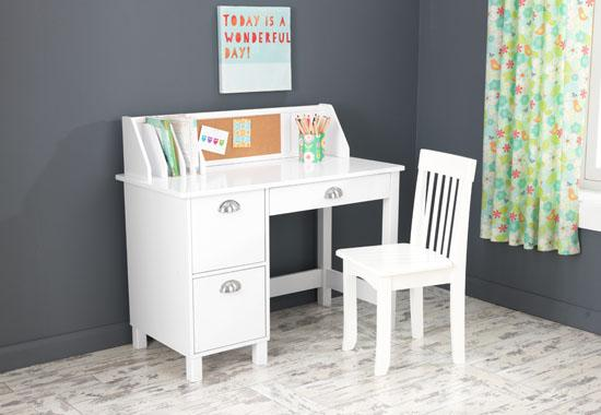 Nice Student Study Desk Kidkraft Student Study Desk Chair Set With Side Drawers White