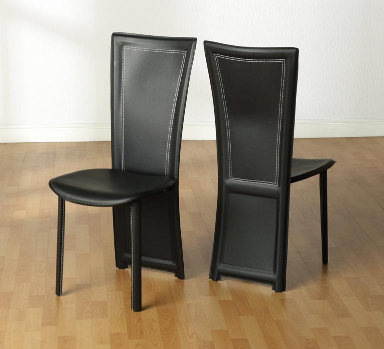Nice Tall Back Leather Dining Chairs High Back Leather Dining Chairs For Exceptional Chic Dining Areas