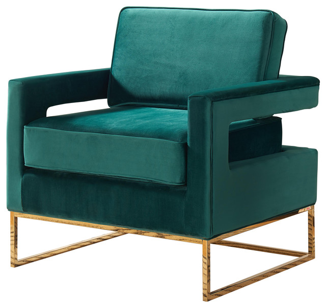 Nice Teal Velvet Accent Chair Noah Velvet Accent Chair Green Contemporary Armchairs And