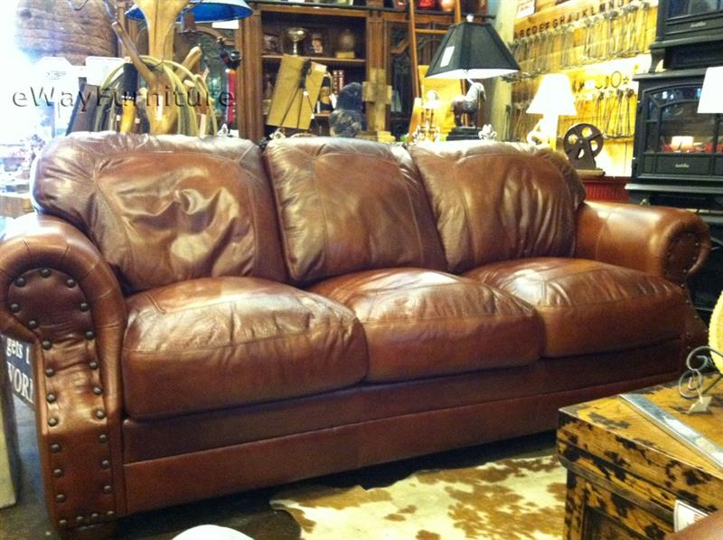 Nice Top Grain Leather Sofa Two Toned Top Grain Leather Cowboy Sofa