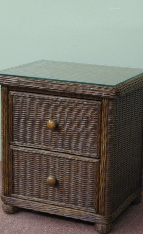 Nice White And Brown Nightstand Wicker Nightstands Foter