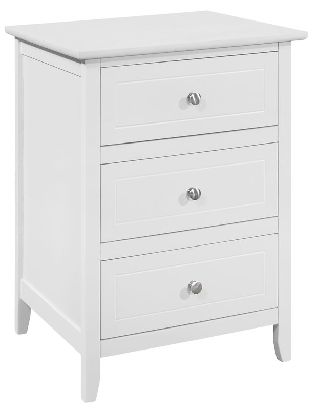Nice White And Silver Nightstand Wood Nightstands Youll Love Wayfair