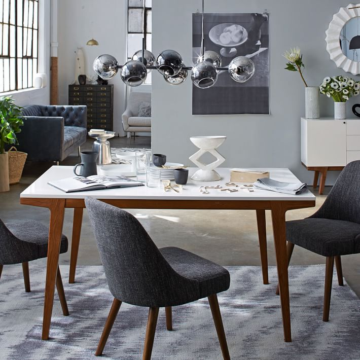 Nice White Dining Table Modern Modern Dining Table West Elm