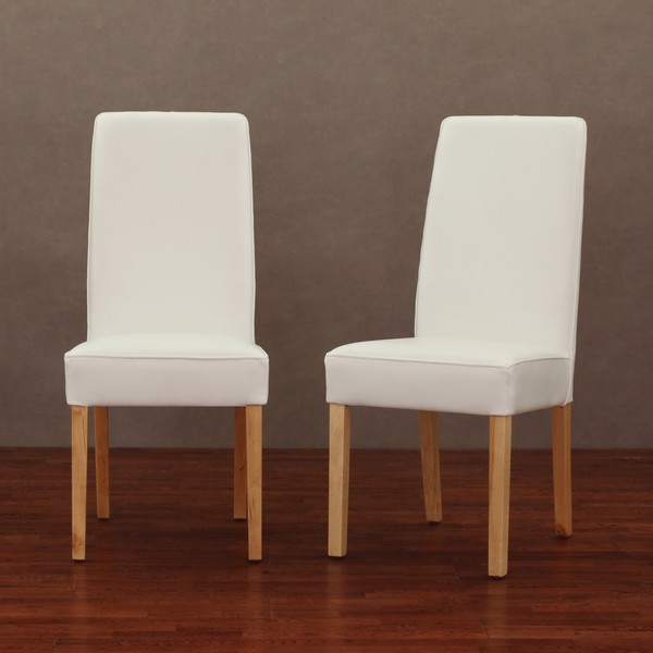 Nice White Leather Dining Chairs With Arms Chairs Astounding White Leather Dining Chairs White Leather