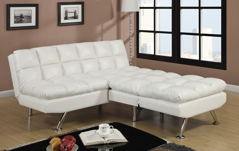 Nice White Leather Futon Sofa Albert Ivory Leather Sofa Bed Futon