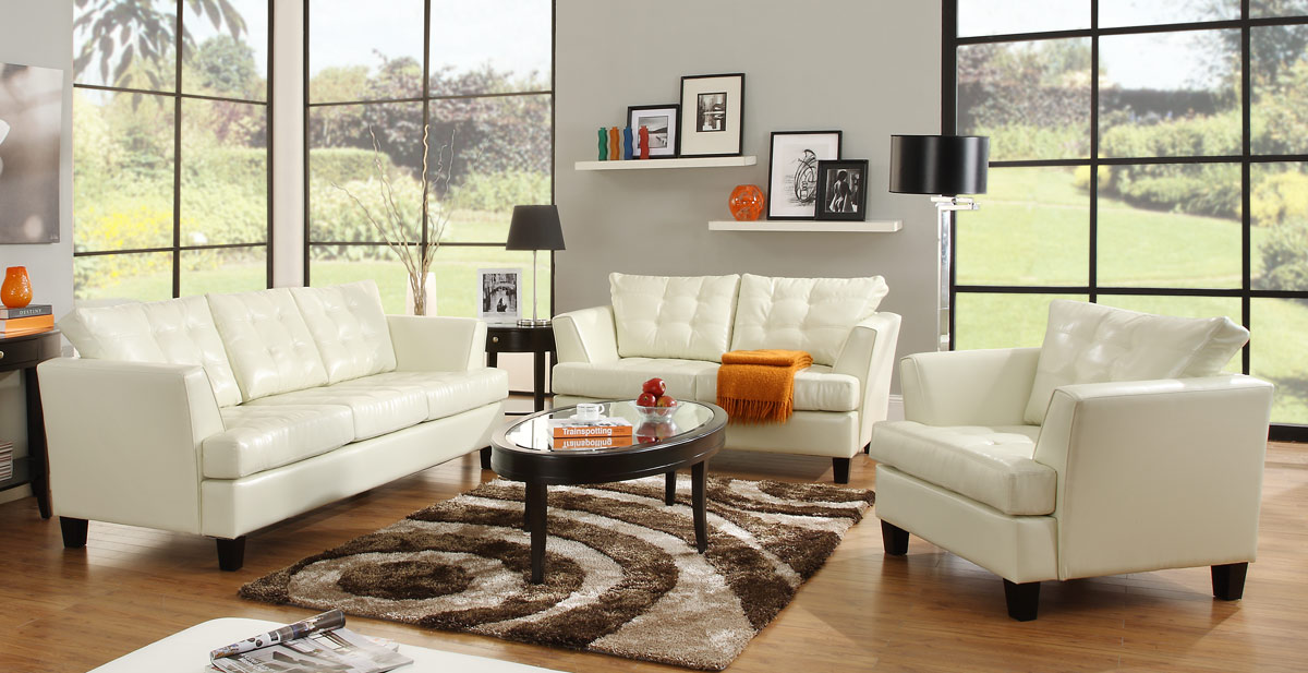 Amazing White Leather Living Room Chairs Beautiful Kitchens ...