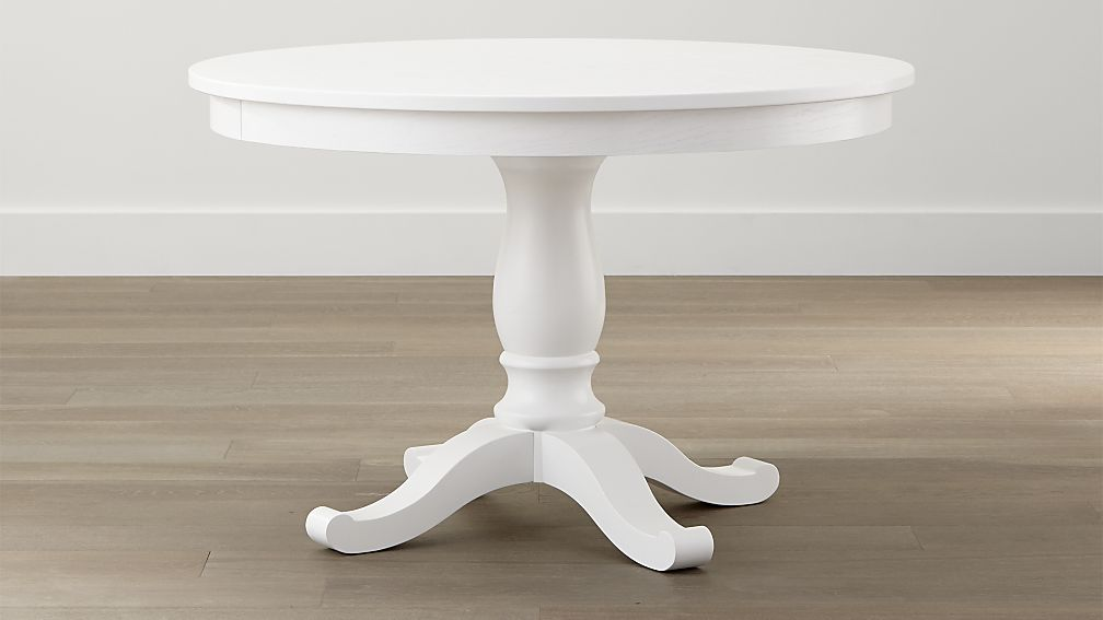 Nice White Round Dining Table Avalon 45 White Extension Dining Table Crate And Barrel