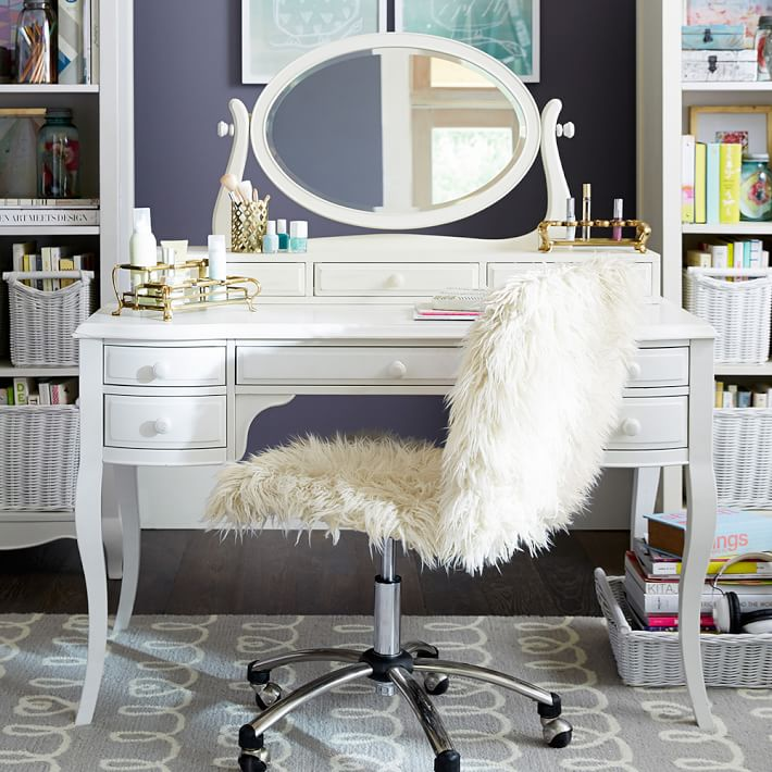 Nice White Vanity Desk With Mirror Lilac Desk Vanity Mirror Hutch Pbteen