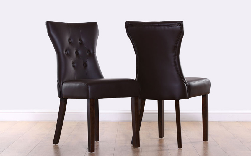 Nice Wood Leather Dining Chairs Chairs Marvellous Brown Leather Dining Chairs Brown Leather