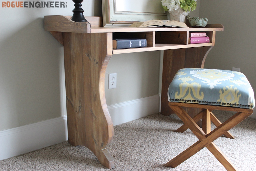 Nice Writing Desk Plans Diy Sicily Writing Desk Free Plans Pottery Barn Inspired